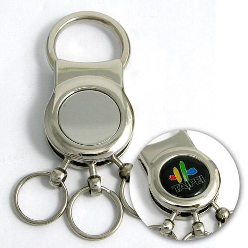 【客製化】 金屬多環長鍊鑰匙圈  A90-51100-023