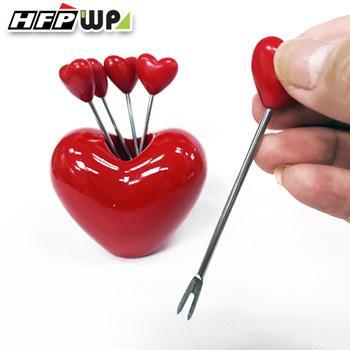 【新品】 愛心水果叉 (5支叉子+愛心座/組) D821 HFPWP