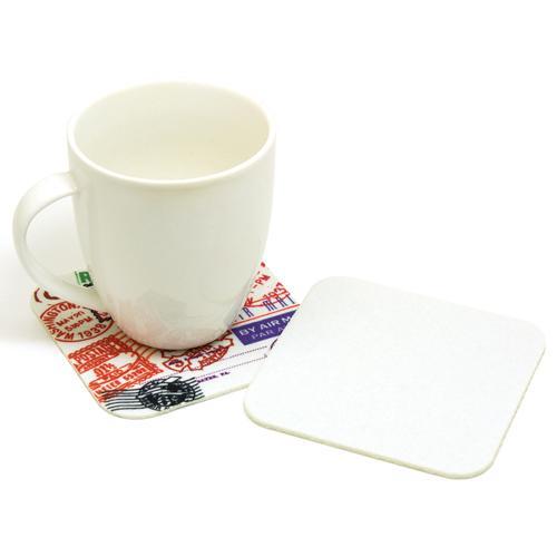 【客製化】 3mm厚 毛氈布方型杯墊 10cm (全彩昇華熱轉印) 宣導品 禮贈品 HFPWP A90-1130-080