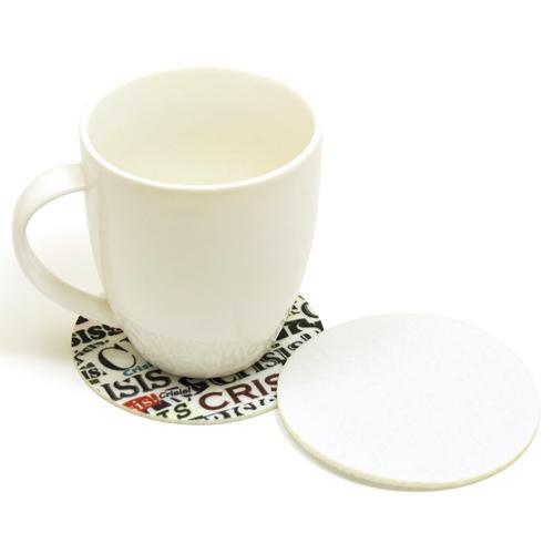 【客製化】 3mm厚 毛氈布圓型杯墊 9cm (全彩昇華熱轉印) 宣導品 禮贈品 HFPWP A90-1130-081