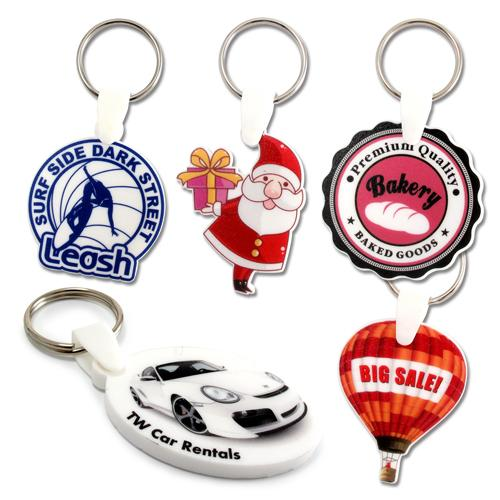 【客製化】 5x5cm白色壓克力全彩數位印刷鑰匙圈(厚度5mm) 宣導品 禮贈品 HFPWP A90-3150-071