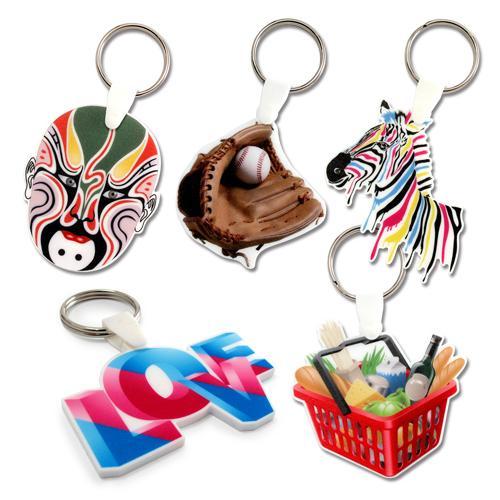 【客製化】 4cm白色壓克力全彩數位印刷鑰匙圈(厚度5mm) 宣導品 禮贈品 HFPWP A90-3150-078
