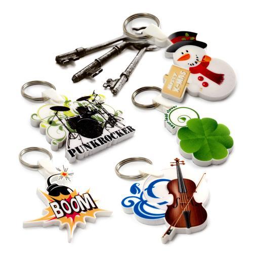 【客製化】 6x6cm白色壓克力全彩數位印刷鑰匙圈(厚度5mm)  宣導品 禮贈品 HFPWP A90-51100-075