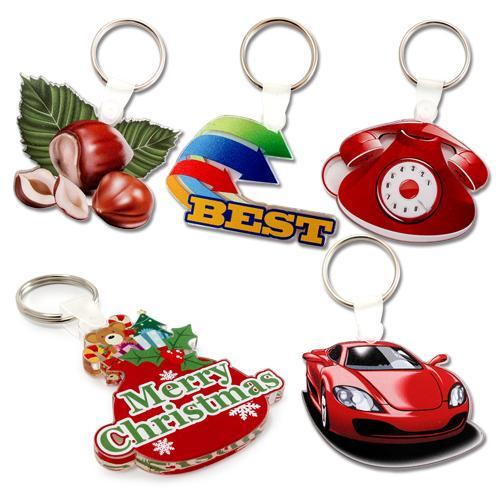 【客製化】 6cm 透明壓克力鑰匙圈(全彩直噴兩面不同圖,厚度5mm) 宣導品 禮贈品 HFPWP  A90-51100-072