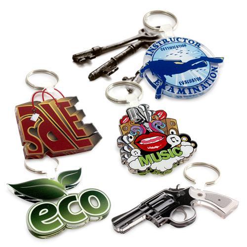 【客製化】 7cm 透明壓克力鑰匙圈(全彩直噴兩面同圖,厚度5mm) 宣導品 禮贈品 HFPWP  A90-51100-077