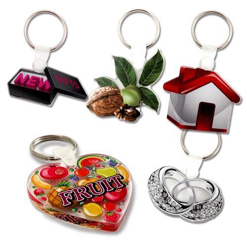 【客製化】 5cm 透明壓克力鑰匙圈(全彩直噴兩面同圖,厚度5mm)  宣導品 禮贈品 HFPWP A90-51100-071