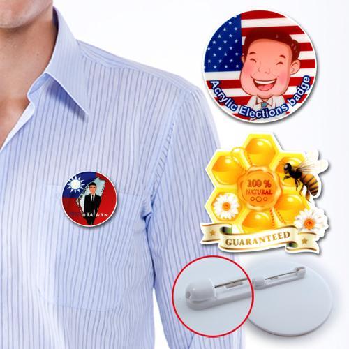 【客製化】 客製化壓克力造型胸章 3.5x2cm  宣導品 禮贈品 HFPWP A90-1130-117