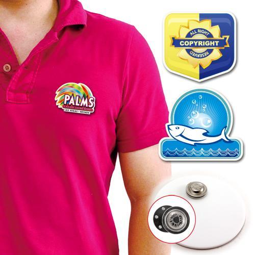 【客製化】 客製化壓克力胸章 (附磁性鈕扣) 4 x  宣導品 禮贈品 HFPWP A90-3150-062