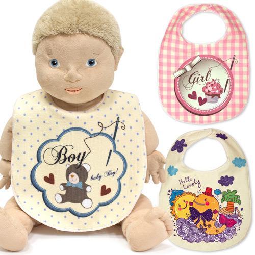 【客製化】嬰兒圍兜 () 21 x 30 cm 100個含印刷  宣導品 禮贈品 HFPWP S1-17035