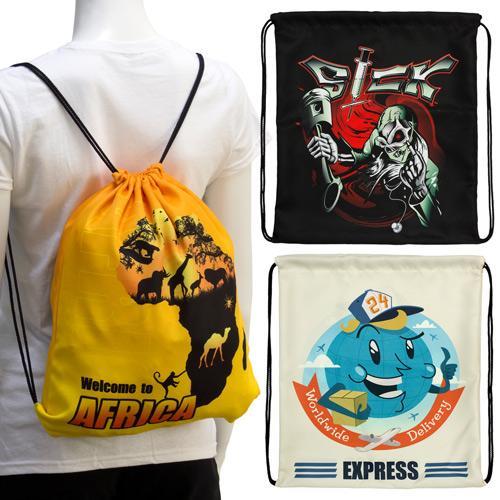 【客製化】100個含印刷 超聯捷 彩印束口後背包W 34.5 x H 39.5 cm 尼龍袋 宣導品 禮贈品 HFPWP S1-01008W-100