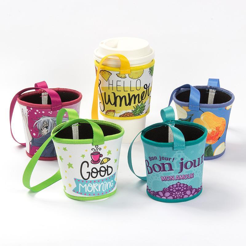 【客製化 】52.2元/個寬版潛水布杯袋飲料杯提袋500個含彩色印刷 宣導品 禮贈品 HFPWP S1-37013A-500