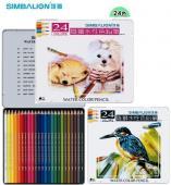 【雄獅】水彩色鉛筆 24色 WP-24