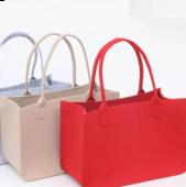 【客製化】超聯捷 大容量時尚毛氈布提袋 宣導品 禮贈品 S1-FC-96-68