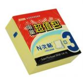 """【N次貼】 61003 黃3""""x3"""" 300張超值包便條紙 (24包/盒)"""
