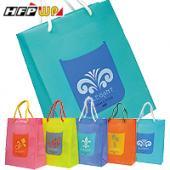 【飆低價】【客製化100個含燙金】280*230*110mm 防水購物袋  宣導品 禮贈品 HFPWP  台灣製 BEL317-BR100