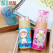 【客製化】28元/個 12色彩色鉛筆 500個印製專屬圖案 宣導品 禮贈品 HFPWPcolor-12-500