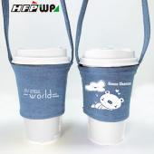 買一送一 [周年慶特價] 加厚寬版帆布杯袋飲料杯提袋(厚12安) D829