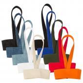 【客製化】窄版帆布杯袋飲料杯提袋(LOGO網版印刷) 50個含印刷 S1-01087-50