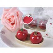 創意陶瓷蘋果調味罐(10入) 精美婚禮小物 禮贈品 ht-0013