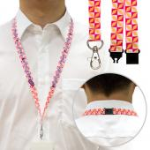 【客製化】 1.5cm毛氈布安全頸掛式織帶  (全彩昇華熱轉印) A90-1130-093