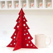 【客製化】中型聖誕樹 (毛氈布雷射切割,高30x寬25.3cm)A90-100-012