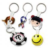 【客製化】4x4cm白色壓克力全彩數位印刷鑰匙圈(厚度3mm) 宣導品 禮贈品 HFPWP  A90-3150-051