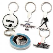 【客製化】 4x4cm白色壓克力全彩數位印刷鑰匙圈(厚度5mm) 宣導品 禮贈品 HFPWP A90-3150-070