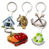【客製化】 4x4cm透明壓克力鑰匙圈(全彩直噴兩面同圖,厚度5mm) 宣導品 禮贈品 HFPWP A90-3150-069