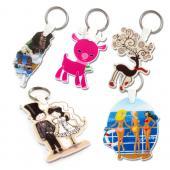 【客製化】7cm 白色壓克力全彩數位印刷鑰匙圈(厚度3mm)  宣導品 禮贈品 HFPWP A90-51100-081