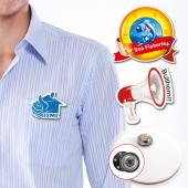 【客製化】客製化壓克力胸章 (附磁性鈕扣) 4 x 2cm  宣導品 禮贈品 HFPWP  A90-3150-067