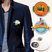 【客製化】  客製化壓克力胸章 (附磁性鈕扣) 5 x 2 cm  宣導品 禮贈品 HFPWP A90-3150-065