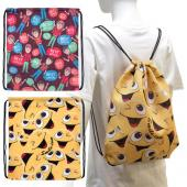 [客製化]  華麗束口後背包(150D全彩昇華熱轉印)100個含印刷 S1-01008DR-100