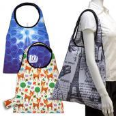 【客製化】 全彩印刷折疊購物袋約寬 40.5 x 高 64cm 長提把 尼龍袋 100個含印刷含版費宣導品 禮贈品 HFPWP  S1-01009B-100