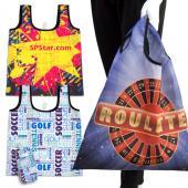 【客製化】全彩印刷折疊購物袋寬 46 x 高 56cm 短提把 (含小收納袋) 尼龍袋100個含印刷含版費 S1-01004A-100
