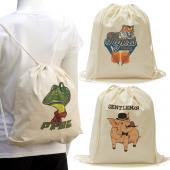 [客製化] 純棉束口後背包 棉布袋100個含印刷含版費 宣導品 禮贈品 HFPWP S1-01022A-100
