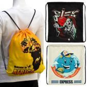 【客製化】升級版彩印束口後背包W 34.5 x H 39.5 cm 尼龍袋100個含印刷含版費 S1-01008W-100
