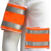 [客製化] 短尺寸螢光臂章+安全反光條100個含印刷含版費 宣導品 禮贈品 HFPWP S1-18007-100