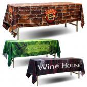 [客製化] 全彩熱昇華半罩式桌巾 5條 (以60x180cm的桌子做為範例) S1-39007