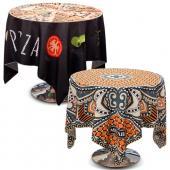 [客製化] 全彩熱昇華半罩式桌巾 5條 (以80cm的圓桌做為範例) S1-39008