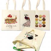 [客製化] 昇級版本白純棉購物袋 棉布袋 環保袋 100個含網版印刷 S1-01002TA