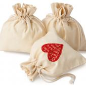 【客製化】50個含印刷 超聯捷 棉布束口袋 福袋19.5*22CM 網版印刷宣導品 禮贈品 S1-01041