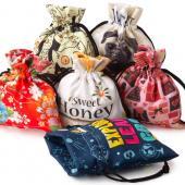 【客製化】50個含彩色印刷 超聯捷 昇華全彩束口小物袋19.5*22CM 宣導品 禮贈品 S1-01043-50