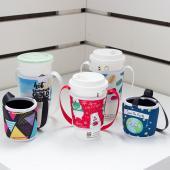 【客製化】寬版潛水布杯袋飲料杯提袋 50個含印刷 宣導品 禮贈品 HFPWP  S1-37013-50