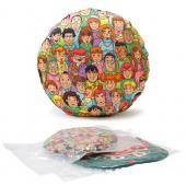 [客製化]  全彩昇華熱轉小尺寸圓形抱枕 (無枕心內袋)  20個 宣導品 禮贈品 HFPWP  S1-39012
