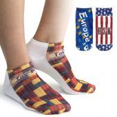 [客製化]  直版定型白色短襪前向面全彩熱昇華 尺寸 22-24公分 100個含印刷含版費 S1-42001S-100